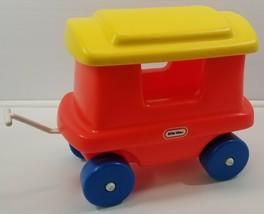 N) Vintage Little Tikes Chugga Chugga Choo-Choo Train Red Caboose Hook Hitch - $24.74