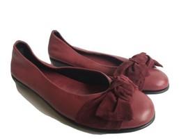 Studio Flexx Shoes Womens Soft Leather Ballet Flats Wine US 6 EU 4/37 - $20.33