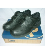 Propet Leather Leisure Walkers Black with Straps Size 16 - $30.00