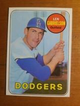1969 Topps #615 Len Gabrielson Dodgers Nice Card! - $2.48