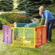 Pet Baby Playpen 6-Panel Superyard Portable Indoor Outdoor Playard Safet... - $92.84