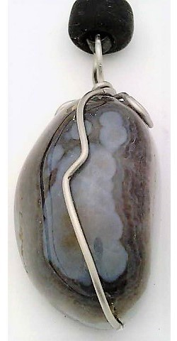 Agate nugget Stainless Wire Wrap Pendant 9