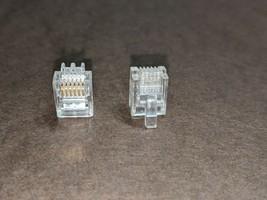 60pcs RJ12 RJ11 6P6C Modular Plug DSL Telephone Connector. Gold-plated F... - $7.37
