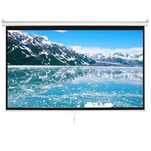 "New 100"" 16:9 HD Manual Projector Screen Pull Down Screen Auto Lock Matt... - $99.99"