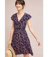 NWT ANTHROPOLOGIE ROSALIA NAVY WRAP DRESS by MAEVE 6 - $94.99