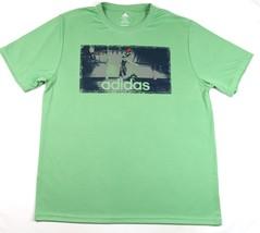 XL Men's Shirt adidas Adilogo Performance Graphic Tee T-shirt Green