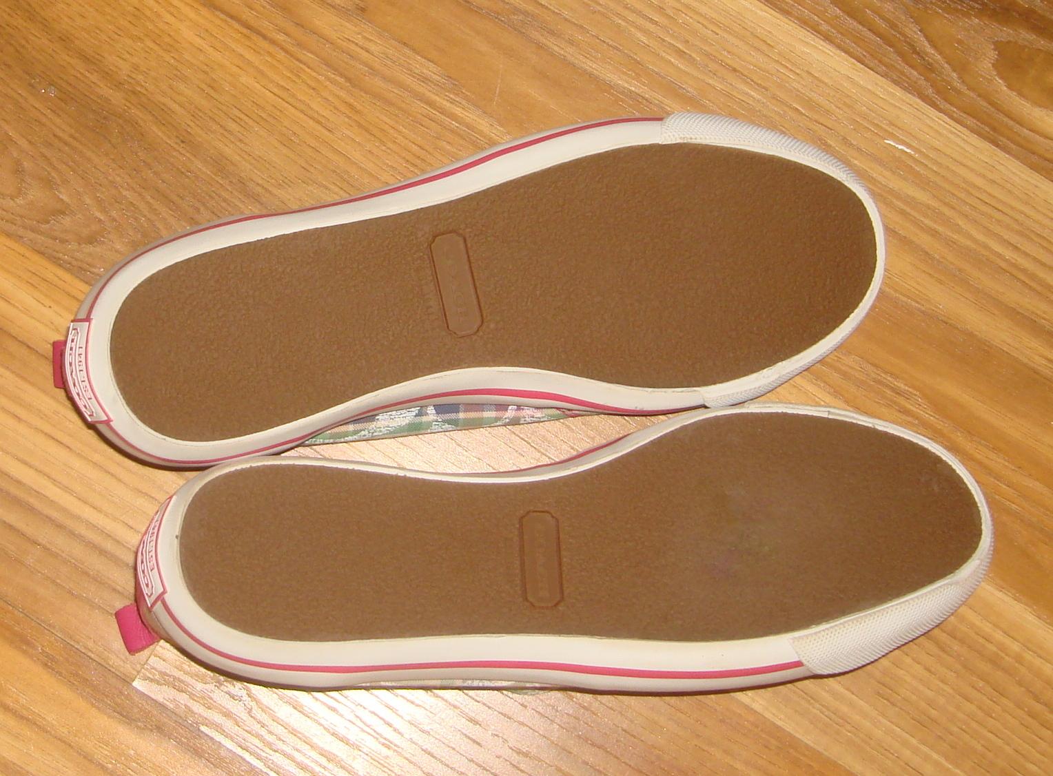 Authentic Coach Katie Poppy Plaid Slip On Sneakers~8.5~
