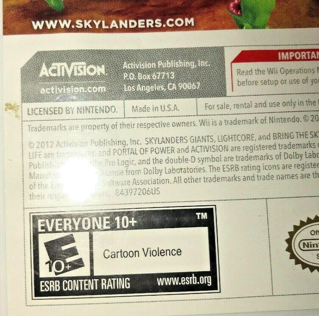 Skylanders GIANTS Nintendo Wii 2012 Game Complete W/ Disc and Portal Of Power image 7