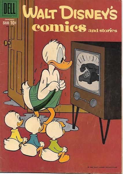 Walt Disney's Comics and Stories Comic Book #220, Dell Comics 1959 VERY GOOD+