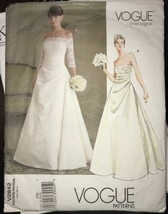 Vogue V2842 Bridal Original Wedding Dress Misses Size 18-22 Pattern Uncut - $26.43