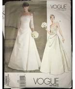 Vogue V2842 Bridal Original Wedding Dress Misses Size 18-22 Pattern Uncut - $26.43