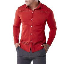 Fashion Men's Autumn Casual Shirts Long Sleeve Shirt Hollow Shirt  Top B... - $59.96