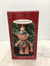 1999 Gift Bearers #1 Porcelain Hallmark Christmas Tree Ornament MIB Price Tag H4 - $12.38