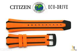 Citizen Eco-Drive E168-S080126 Orange/Black Rubber Watch Band Strap CA05... - $79.95