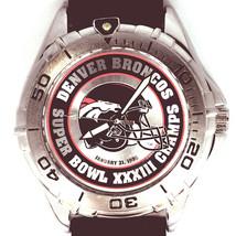 Denver Broncos Super Bowl 33 NFL Watch Vintage Fossil New Unworn, Black Band $99 - $97.86