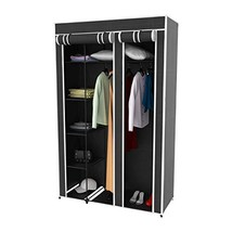 Lavish Home Wardrobe Closet Organizer with Dust Free Standing Vertical A... - $40.70