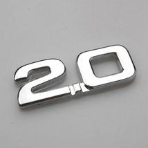 3D Car Metal Silver 2.0 2.0T 2.0TSI Rear Trunk Decal Emblem Badge Sticker  - $8.45