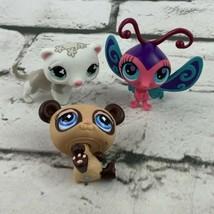 Authentic LPS Lot Brown Panda White Ferret Pink Blue Butterfly Littlest Pet Shop - $11.88