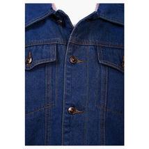 Junior Kids Boy's Premium Button Up Denim Fur Lined Trucker Sherpa Jean Jacket image 3