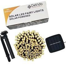 DeVida Solar String Lights 120 Warm White LED, Easy to Install, Automati... - $29.37