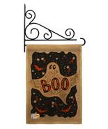 Ghoulish Boo Burlap - Impressions Decorative Metal Fansy Wall Bracket Ga... - $33.97