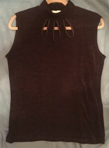 Diana Black Sleeveless Blouse; One Size Fits All - $9.89