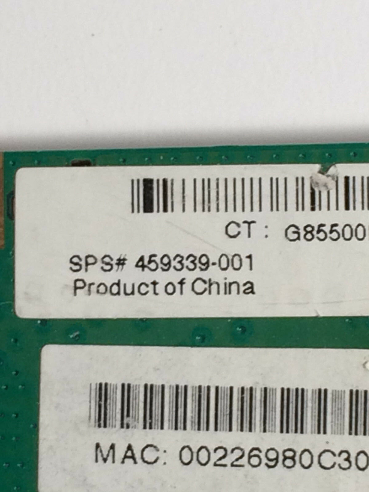 HP 459339-001 Pavilion dv6000 dv9000 g50 802.11b/g Mini PCI Wireless WI-FI Card image 4
