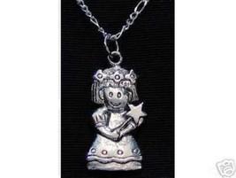 NICE Cartoon Virgo Virgin maiden Sterling silver Pendant Charm Zodiac STAR Astro - $21.01