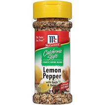 McCormick California Style LEMON PEPPER with Garlic and Onion 2.5oz (Qua... - $14.80