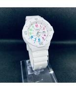 Casio Women's Classic Rainbow Numerals White Resin 34mm Watch LRW200H-7BV - $28.00