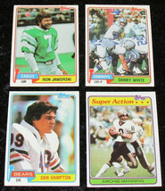 1981 Topps Football Cards  Partial Set 11 Cards Dolphins Chargers 49ers Eagles - $0.98