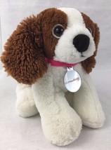 Nintendogs Plush Dog Stuffed Animal Brown White Puppy Nintendo Stuffed T... - $24.70