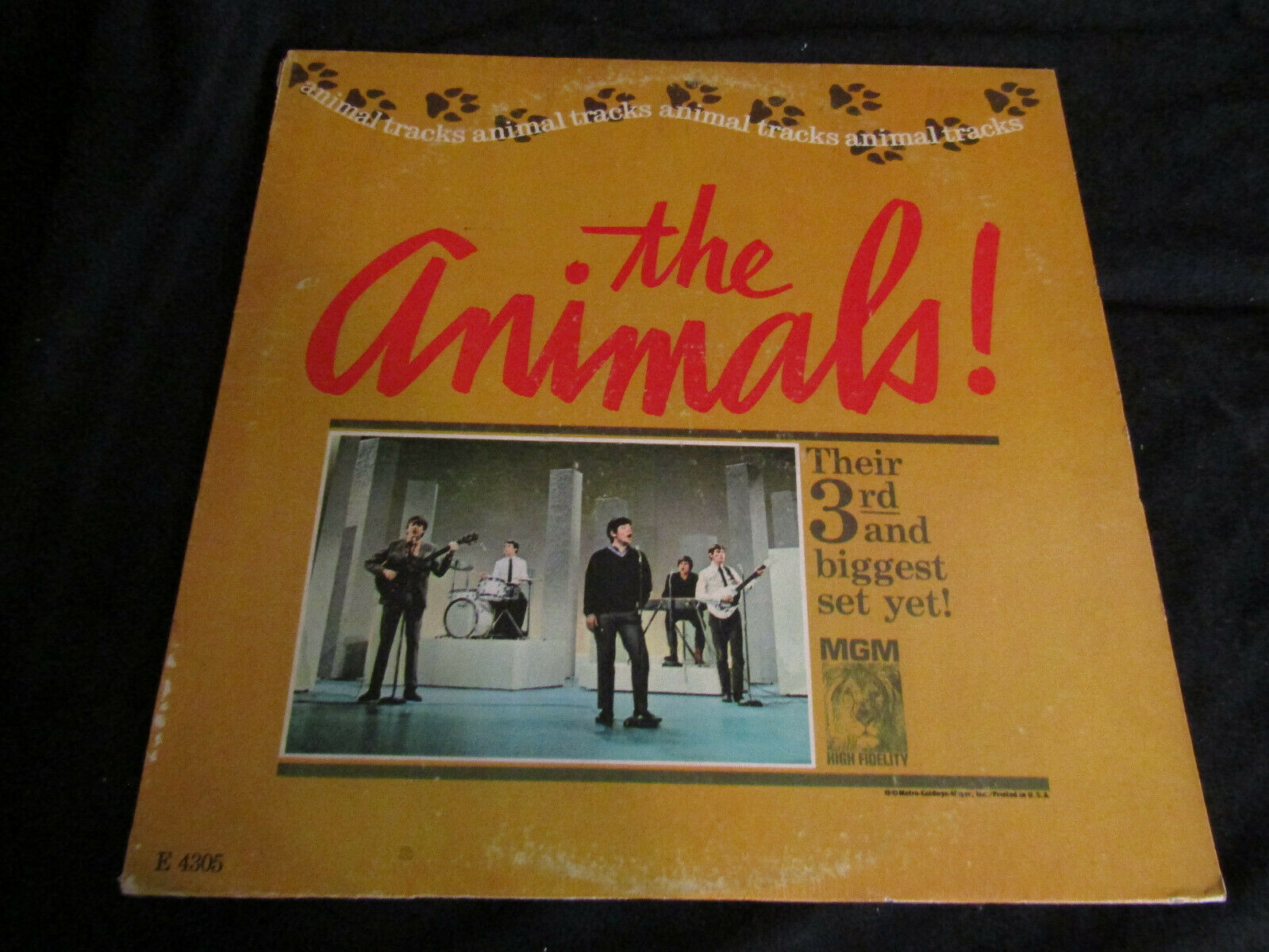 Primary image for The Animals Animal Tracks MGM E4305 Mono Vinyl Record LP Rare British Invasion