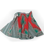 Casual dashiki wrap skirt pink thumbtall