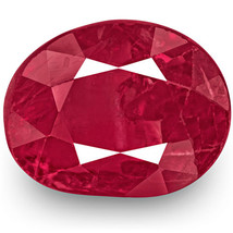 GRS Certified BURMA Ruby 3.34 Cts Natural Untreated Rich Red Oval - $5,845.00