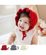 Newborn Infant knitted hats Solid Princess Caps Cute baby Girls bonnet n... - $14.95