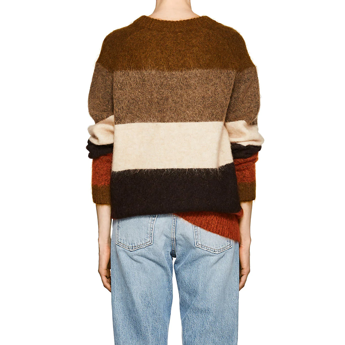 Women Oversized Albah Multicolor Striped Wool Mohair-Blend Sweater