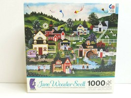 Jane Wooster Scott A Picture Perfect Day 1000 Pc American Folk Art Ceaco... - $44.54
