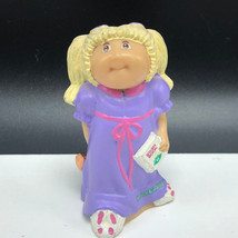 1984 Cabbage Patch Kids Figure Figurine Blonde Oaa Story Book Purple Toy Teddy - $13.55