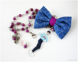 RESERVED for Juicy 88 - custom acrylic necklace - $45.00