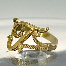 NICE New Gold plated Silver letter Initial T ring jewelry - $19.92