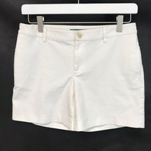 Lauren Ralph Lauren Crisp White Chino Shorts Flat Front Stretch Cotton SZ 2 - $16.80