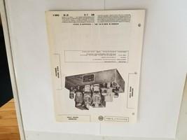 Vintage Photofact Folder Parts Manual - b1 - Grommes Model 215Ba - $6.92