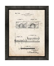 Sand Picture Patent Print Old Look with Beveled Wood Frame - $24.95+