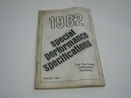 Ford 1982 Special Performance Specifications - $9.89
