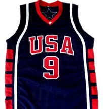 Lebron James #9 Team USA Men Basketball Jersey Navy Blue Any Size image 4