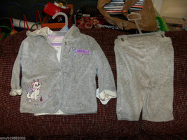Disney 3 piece Gray Aristocats Maria Outfit Size 3/6 months Girl's NEW HTF - $22.88