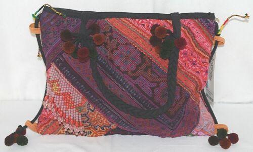 Gemini Mermaids Brand BG005PU Twelve Inch Desert Sunset Color Pom Pom Purse