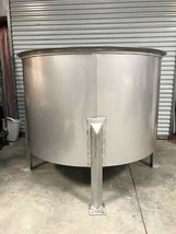 Brand New 500 Gallon Stainless Steel  open top holding/mix WE BUILD CUST... - $9,800.00