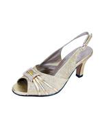8 FLORAL Nadine Women Wide Width Peep Toe Dress Slingback Shoes With Jew... - $53.95